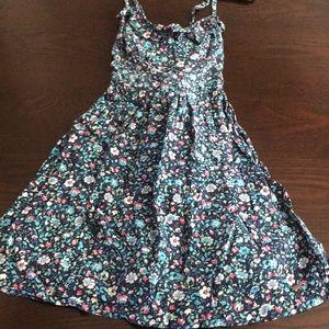 Hollister blue floral mini dress